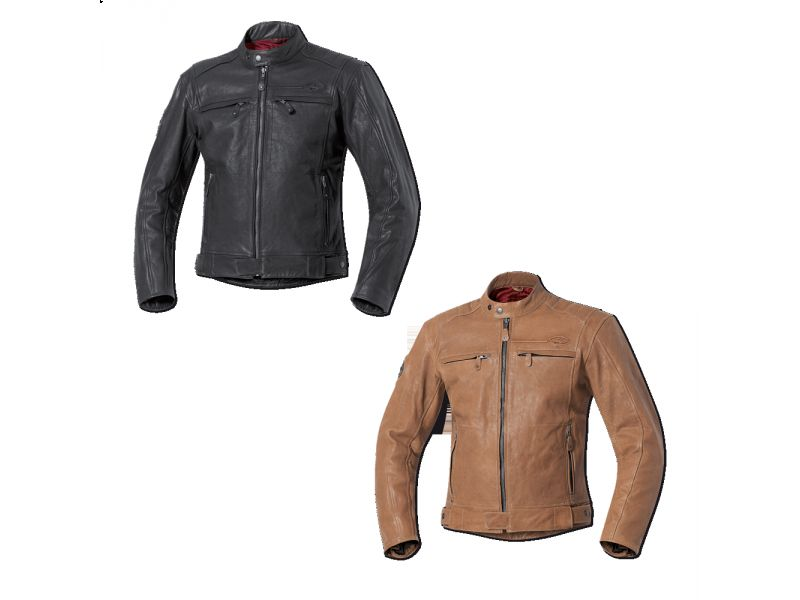 Chaqueta piel lem retro brown