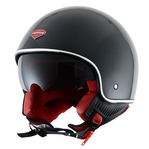 Casco Astone Mini Retro Negro