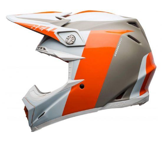 Casco Bell MOTO 9 FLEX Division BlancoNaranjaArena