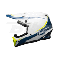 Casco Bell MX-9 Mips Torch Blanco/Azul/Amarillo