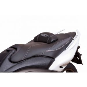 Asiento confort yamaha t-max 500 08/12  negro gris, costuras gris new