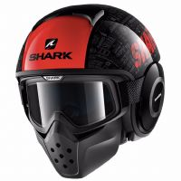 Casco shark drak tribute rm black- red